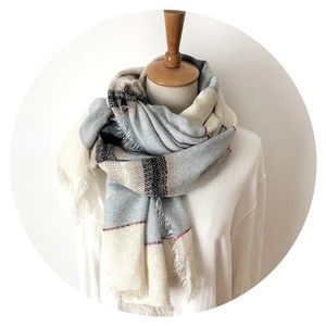 • NOW AVAILABLE! • Oversized Linen Blend Scarf •